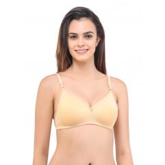 Perupad Skin Hosiery Non Padded Regular Bra