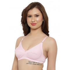 Lite Pink Color Hosiery Non Padded Regular Bra